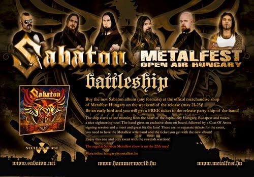 SABATON – METALFEST HUNGARY BATTLESHIP