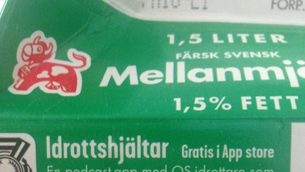 Interesting.. It only works if you move that ass, or what?  #arla #milk