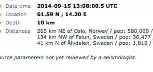 My first earthquake. In Falun. #5.1