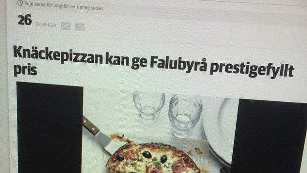 In the local newspaper today. Our campaign for Knäckepizza is nominated for 100wattaren