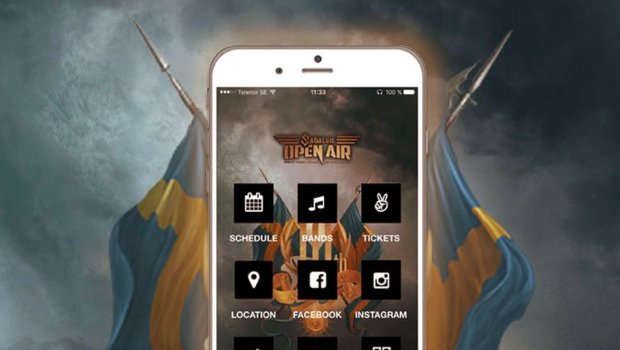 The NEW smartphone app for Sabaton Open Air for Apple & Android devices!  Go ahead and download it, on App Store or Google Play!